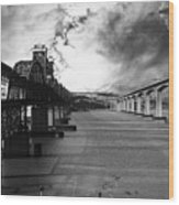 The Three Benicia-martinez Bridges . A Journey Through Time . Black And White Wood Print by Wingsdomain Art and Photography
