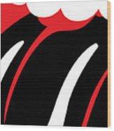 The Tongue No.02 Wood Print by Caio Caldas