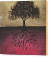 The Tree Of Life Wood Print by Edwin Alverio