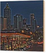 The Varsity Atlanta Wood Print by Corky Willis Atlanta Photography