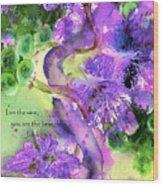 The Vine Wood Print by Anne Duke