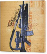 This Is My Rifle Riflemans Creed Wood Print by Jeff Steed
