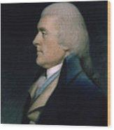 Thomas Jefferson Wood Print by James Sharples