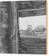 Through The Barn Wood Print by Dean Herbert