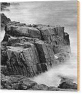 Thunder Along The Acadia Coastline - No 1 Wood Print by Thomas Schoeller