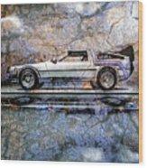Time Machine Or The Retrofitted Delorean Dmc-12 Wood Print by Bob Orsillo