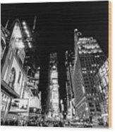 Times Square Don't Shine As Bright As You Wood Print by Ariane Moshayedi