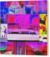 Times Square Frenzy Wood Print by Funkpix Photo Hunter
