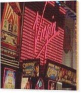 Times Square Night Wood Print by Debbi Granruth