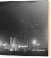 To The Right Budweiser Lightning Strike Bw Wood Print by James BO  Insogna