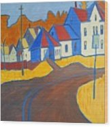 Town Center Plaistow Nh Wood Print by Debra Robinson