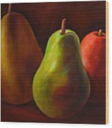 Tri Pear Wood Print by Shannon Grissom
