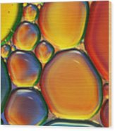 Tropical Oil And Water II Wood Print by Sharon Johnstone