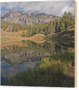 Trout Lake, Yellowstone National Park Wood Print by DBushue Photography