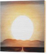 True God Wood Print by Gina De Gorna