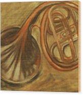 Trumpet Wood Print by Rashmi Rao