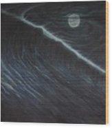 Tsunami Wood Print by Angel Ortiz