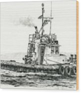 Tugboat Kelly Foss Wood Print by James Williamson