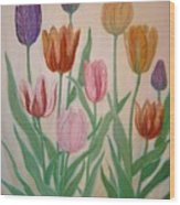 Tulips Wood Print by Ben Kiger