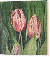 Tulips  Wood Print by Irina Sztukowski