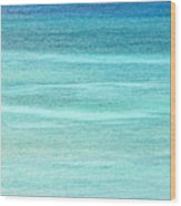 Turquoise Blue Carribean Water Wood Print by James Forte