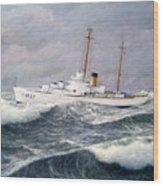 U. S. Coast Guard Cutter Taney Wood Print by William H RaVell III
