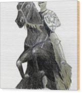 Ucf Knights Wood Print by Frederic Kohli