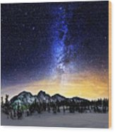 Under The Stars Wood Print by Alexis Birkill