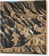 Unearthly World - Death Valley's Badlands Wood Print by Christine Till