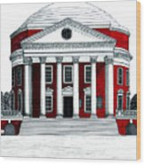 University Of Virginia Wood Print by Frederic Kohli