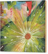 Urban Sunburst Wood Print by Andrew Gillette