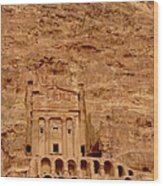 Urn Tomb, Petra Wood Print by Cute Kitten Images
