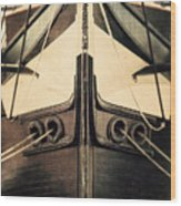 Uss Constellation Wood Print by Lisa Russo