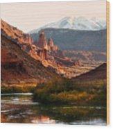 Utah Colorado River Wood Print by Marilyn Hunt
