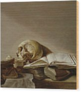 Vanitas Wood Print by Jan Davidsz de Heem