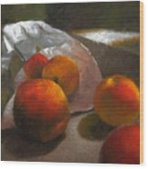 Vanzant Peaches Wood Print by Timothy Jones