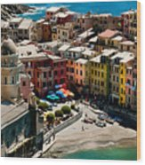 Venazza Cinque Terre Italy Wood Print by Xavier Cardell
