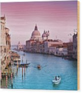 Venice Canale Grande Italy Wood Print by Dominic Kamp Photography