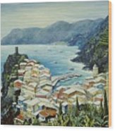 Vernazza Cinque Terre Italy Wood Print by Marilyn Dunlap