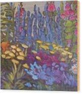 Vic Park Garden Wood Print by Carol Hama Chang