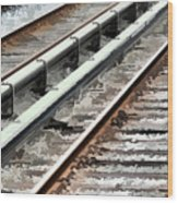 View Of The Railway Track  Wood Print by Lanjee Chee