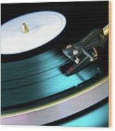 Vinyl Record Wood Print by Carlos Caetano