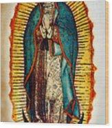 Virgen De Guadalupe Wood Print by Bibi Romer