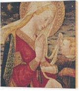 Virgin And Child  Wood Print by Neri di Bicci