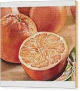 Vitamin C Wood Print by Irina Sztukowski