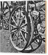 Wagon Wheel Graveyard Wood Print by Douglas Barnard
