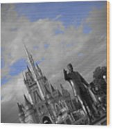 Walt Disney World - Partners Statue Wood Print by AK Photography