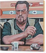 Walter Sobchak Wood Print by Tom Roderick