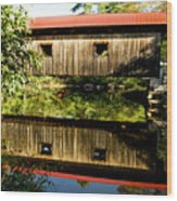 Warner Covered Bridge Wood Print by Greg Fortier