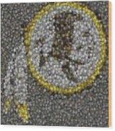 Washington Redskins Coins Mosaic Wood Print by Paul Van Scott